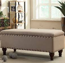 storage bench for living room: upholstered storage bench ottoman seat lounge bedroom living room home furniture