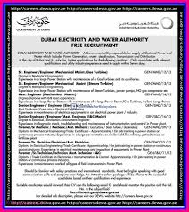 Dubai Electricity Water Authority Free Recruitment Gulf Jobs