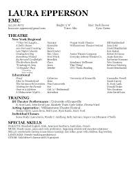Resume Examples For Actors Actor Resume Sample Acting Resume Sample Sample Acting Resume Sample