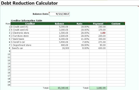 Snowball Calculator Excel Learn How To Use The Debt Snowball Free Download Of A