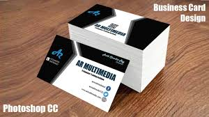 How To Design Business Card In Adobe Photoshop Cc Graphic Design Business Cards Mockup Design