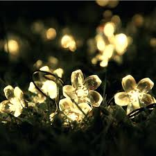 outdoor solar string lights tech outdoor solar string lights led blossom flower fairy light for garden