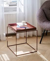 hay tray table medium square chocolate