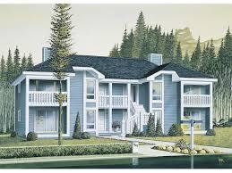 harborview two story fourplex house plan