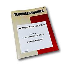 Amazon Com Tecumseh 3 To 10 Hp 4 Cycle Engine Owners