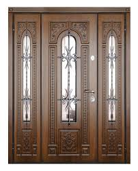 entry door swing solid wood stainless steel wrought iron