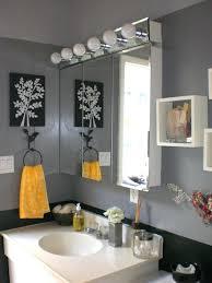 yellow gray bathroom yellow and gray bathroom wall art