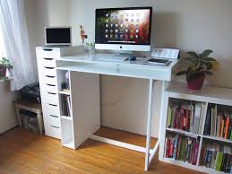 Entrancing home office Graphic Designer Witching Design Ideas Of Home Office Standing Desk Entrancing Design Home Office Standing Desk Features White Color Desk And Wooden Standing Computer Desk White Modern Office Furniture Furniture Witching Design Ideas Of Home Office Standing Desk