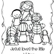 Chic Idea Jesus And The Children Coloring Page Printable Loves Me