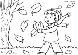 Autumn Fall Coloring Pages Free To Print Portale Bambini