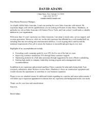 Sales Associates Cover Letter Examples Cover Letter Template