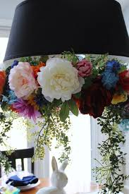 easter table decorations chandelier wreath