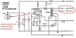 xaudia microphone blog 2010 01 Re20 Wiring Diagram when using a single sided capsule, the circuit can be simplified somewhat and several parts omitted the the capsule may be wired straight to the tube grid, Shure SM7B