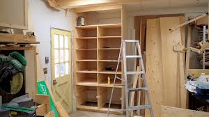 Shop Wall Cabinets Making A Deep Shop Cabinet With Drawers Part 2 Youtube