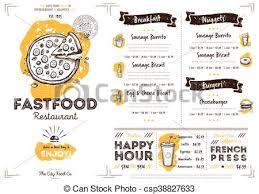 Cafe Menu Template Restaurant Cafe Fast Food Menu Template