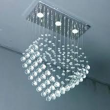 stainless steel chandelier led dining room lighting luxury crystal suspension light stainless steel chandelier