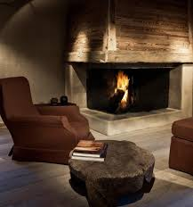 beams reclaimed wood stone fireplace great for a basement man cave