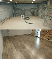 Concrete Wood Floors Basement Refinished With Concrete Wood Ardmore Pa Rustic