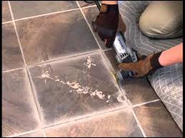 removing a broken floor tile dremel mm40