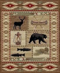deer area rug lodge cabin southwestern bear deer buck area rug free in home garden