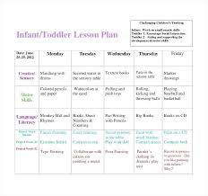 Lesson Plan Printable Template Free Lesson Plan For Toddler Weekly Lesson Plan Template Infant