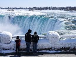 Risultati immagini per niagara falls in winter