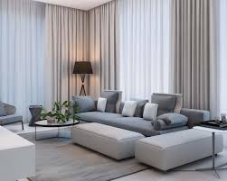 depiction of interior with sheer curtain for undisguised outdoor view home decorations ideas modern living room curtains curtain patterns