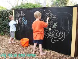 cool diy outdoor chalkboard kids summer fun kidsomania