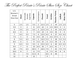 Ballet Pointe Shoes Size Chart Pointe Ballet Shoe Sizing Guide For The Top Brands Dance