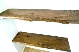 Thick Wood Floating Shelves