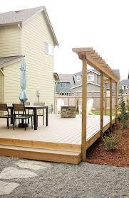 Small Backyard Renovation With Pea Gravel And Trex Deck Build A Impressive Small Backyard Decks Patios Remodelling