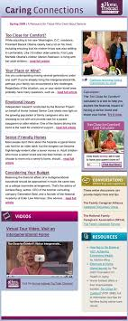 sample company newsletter sample caring connections email newsletter stages of senior care