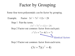 factor by grouping some four term polynomials can be factor by grouping example factor