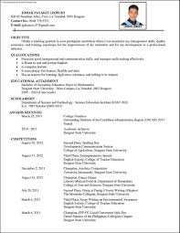 sample comprehensive resume  resume for study
