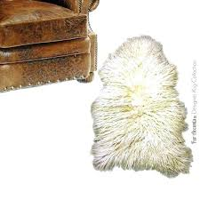 image 0 faux fur rug plush area gy mongolian white