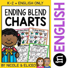 Ending Blends Chart Ending Blends Phonics Charts By Nicole And Eliceo Tpt