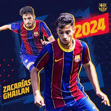 """نادي برشلونة on Twitter: """"🔵🔴 تجديد عقد زكريا غيلان مع نادي #برشلونة حتى  30 يونيو/حزيران 2024. بعد انتهاء فترته مع فريق تحت 19 سنة، سيلعب المهاجم لـ  @FCBarcelonaB بدءاً من الموسم الجديد."""