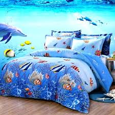 ocean blue bedding sets ocean blue and colorful marine life scene tropical fish and starfish print ocean blue bedding