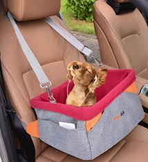 dog car seat legendog pet booster portable travel pet car seat carrier for dogs cats waterproof pet booster carrier with cushion adjule strap