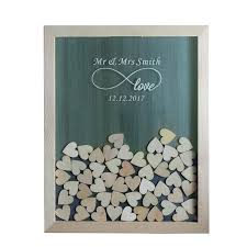 guest book frame personalized multi colors rustic drop top wooden wedding heart box diy guest book