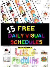 Free Schedule Free Visual Schedules Little Puddins Free Printables