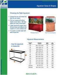 Aquarium Size Chart 39 Rational Fish Tank Measurement Chart