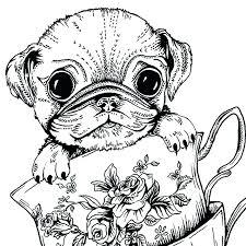 pug coloring pages pug coloring pages pug coloring teacup pug greeting card coloring pages for s free