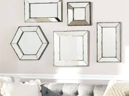 hexagon wall mirrors hexagon wall mirror hexagon mirror wall art