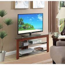 convenience concepts designs2go wood and glass tv stand