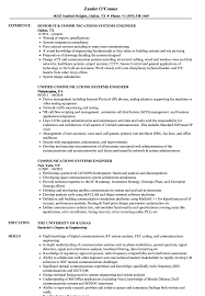 Communications Systems Engineer Resume Samples Velvet Jobs