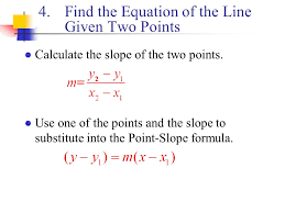 12 find the equation of the line given two points