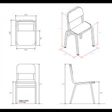 Perfect School Chair Drawing Design Dwg For Inspiration
