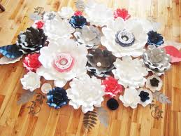 Paper Flower Archway Flower Backdrop Paper Flower Wall Wedding Archway Set Of 28