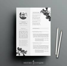 Etsy Resume Resume Template 24 Pages CV Template Cover Letter 17